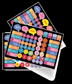 Творчі наліпки для планувальників, нотатників, календарів